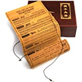 The Art of War Collectable Bamboo Scroll with Wooden Gift Box, Chinese Style High-end Gift Table Wall Office & Home Decorations, Bilingual Edition, English and Chinese