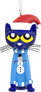 Hallmark Christmas Ornament, Pete the Cat in Sweater and Santa Hat