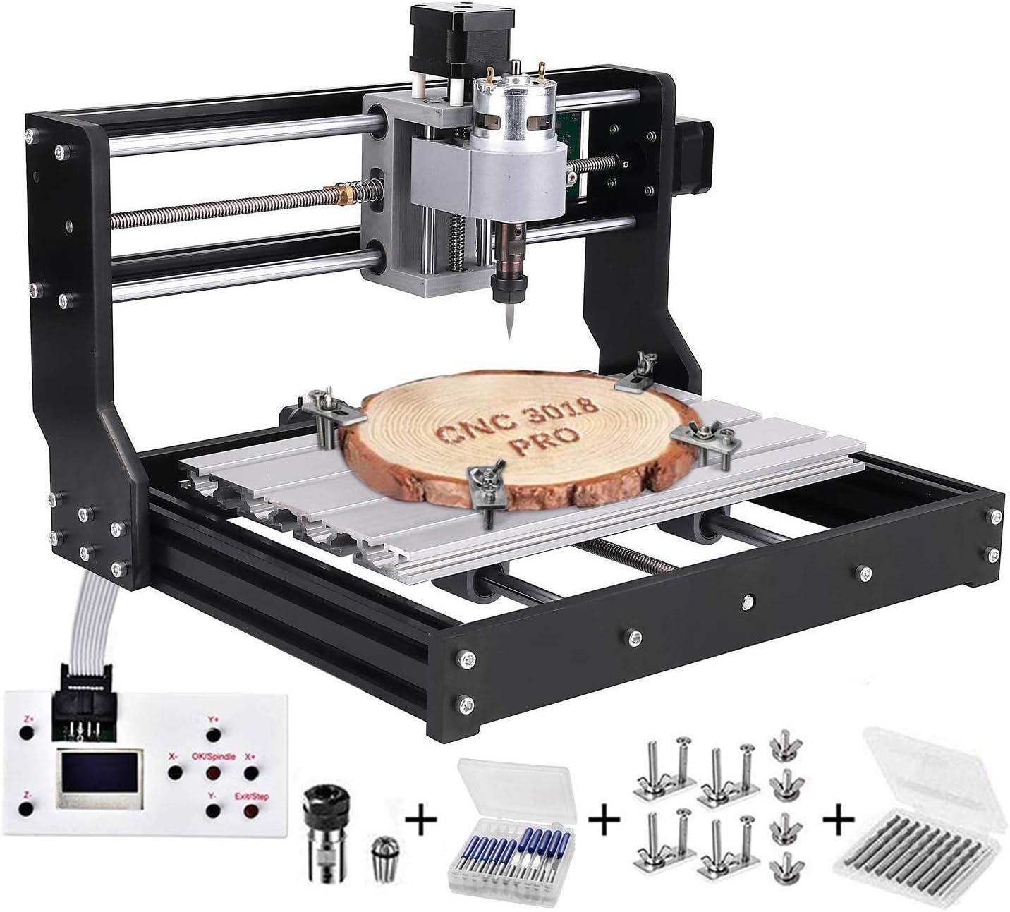 3018 Pro CNC Machine de Gravure laser engraving machine, TOPQSC GRBL Router Graveuse 3 Axe Plastique Acrylique Bois PVC