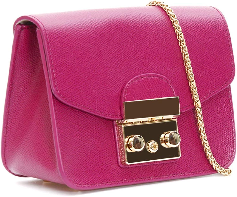 Leather Chain Shoulder Bag...