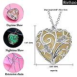 Rinhoo Glow in the Dark Heart Charm Pendant Ladies