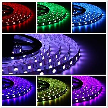 5 Meter Rgb Led Strip Strip Leiste Mit 300 Leds Smd5050 16 Farben