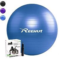 REEHUT Anti-Burst Gymnastikball + Pumpe mit Belastbarkeit bis zu 500kg Core-Training Fitness Yoga Pilates Ball