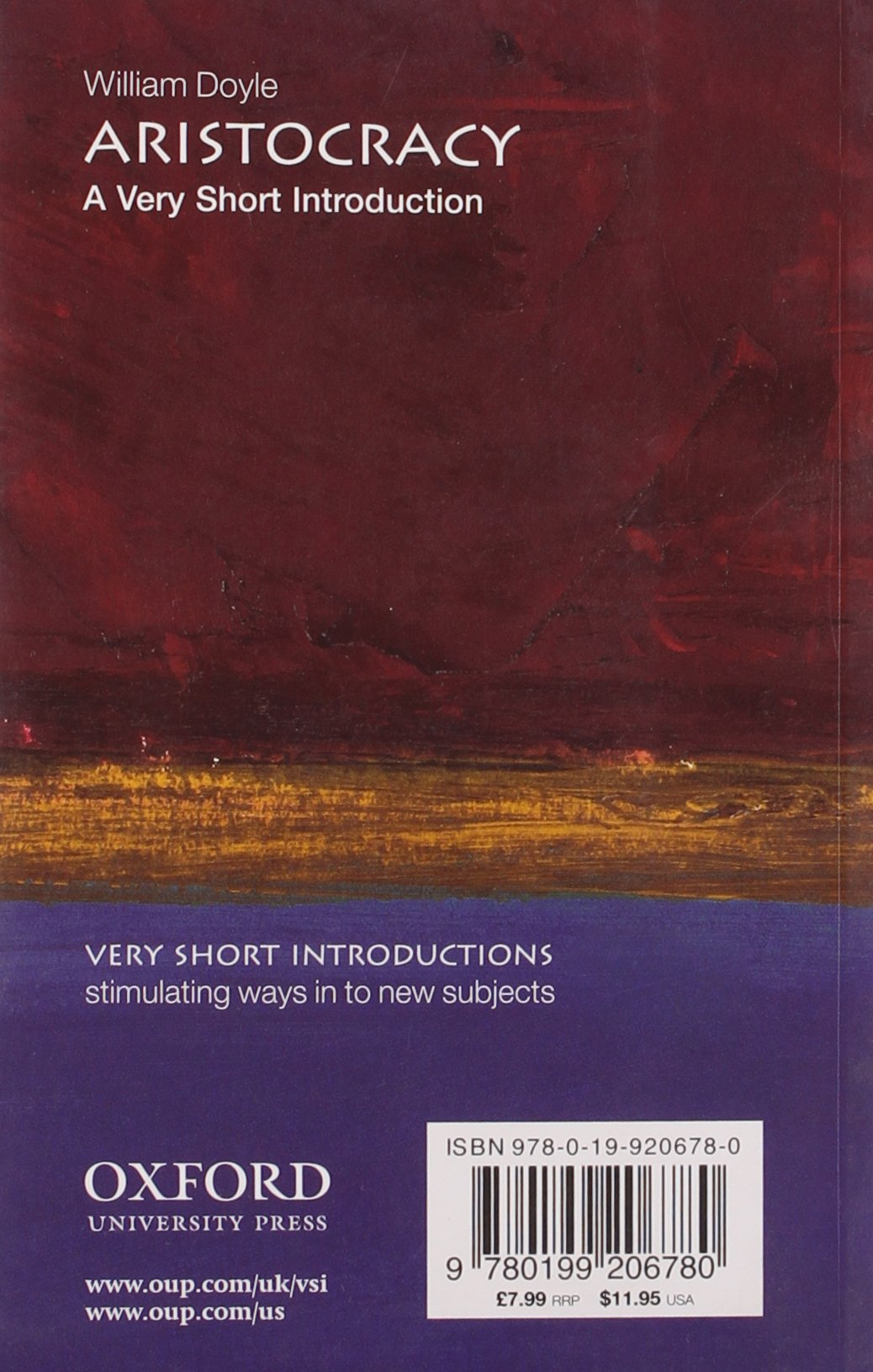 Aristocracy: A Very Short Introduction (Very Short Introductions)