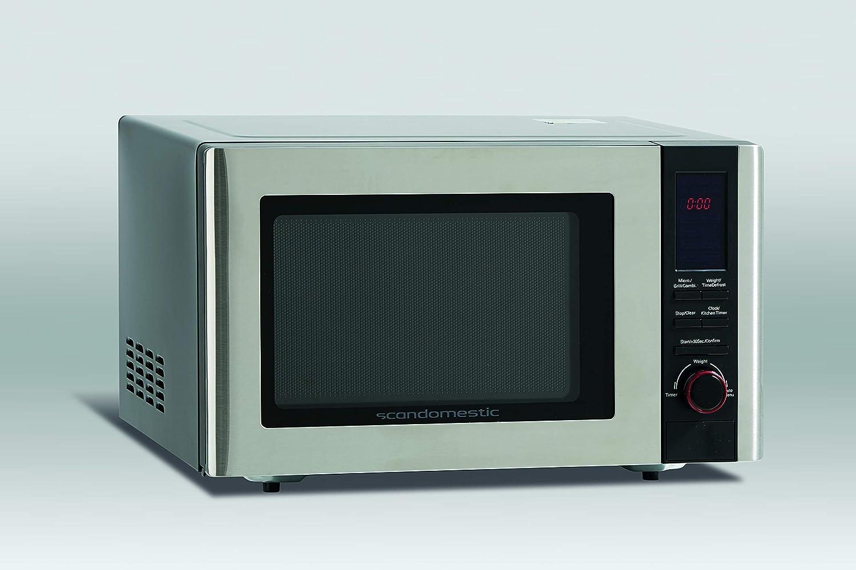 Scandomestic Microondas acero inoxidable Capacidad de 23l, 800 W ...