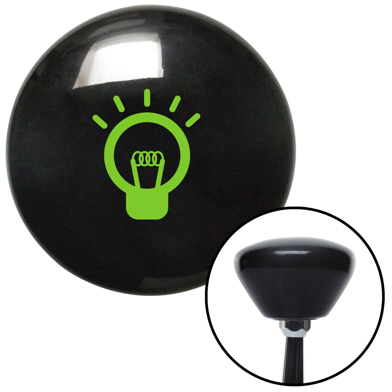 American Shifter 147908 Black Retro Shift Knob with M16 x 1.5 Insert Green Light Bulb On
