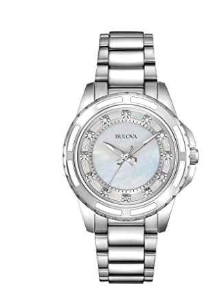 Bulova Analogique 96p144 Femme Quartz Ladies Diamond Montre ZiukPX