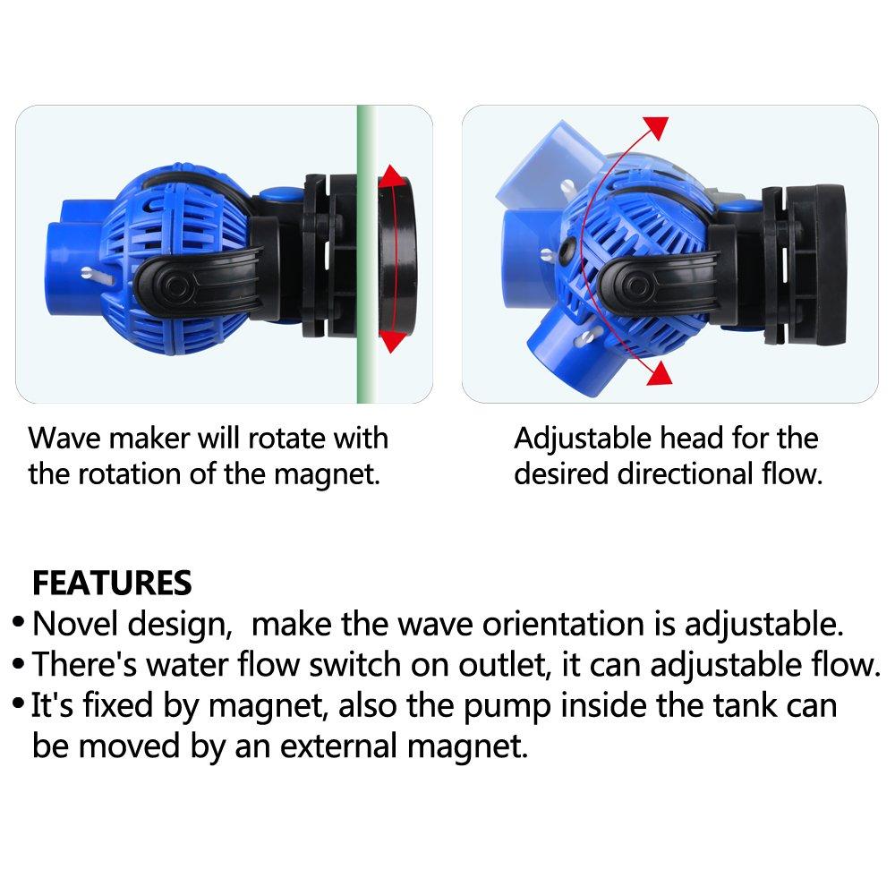 Freesea Aquarium Wave Maker 2 Power Head Circulation Wavemaker Circuit Design Software Pump With Magnet Suction Base For Fish Tank8 Watts 1585gph Pet Supplies