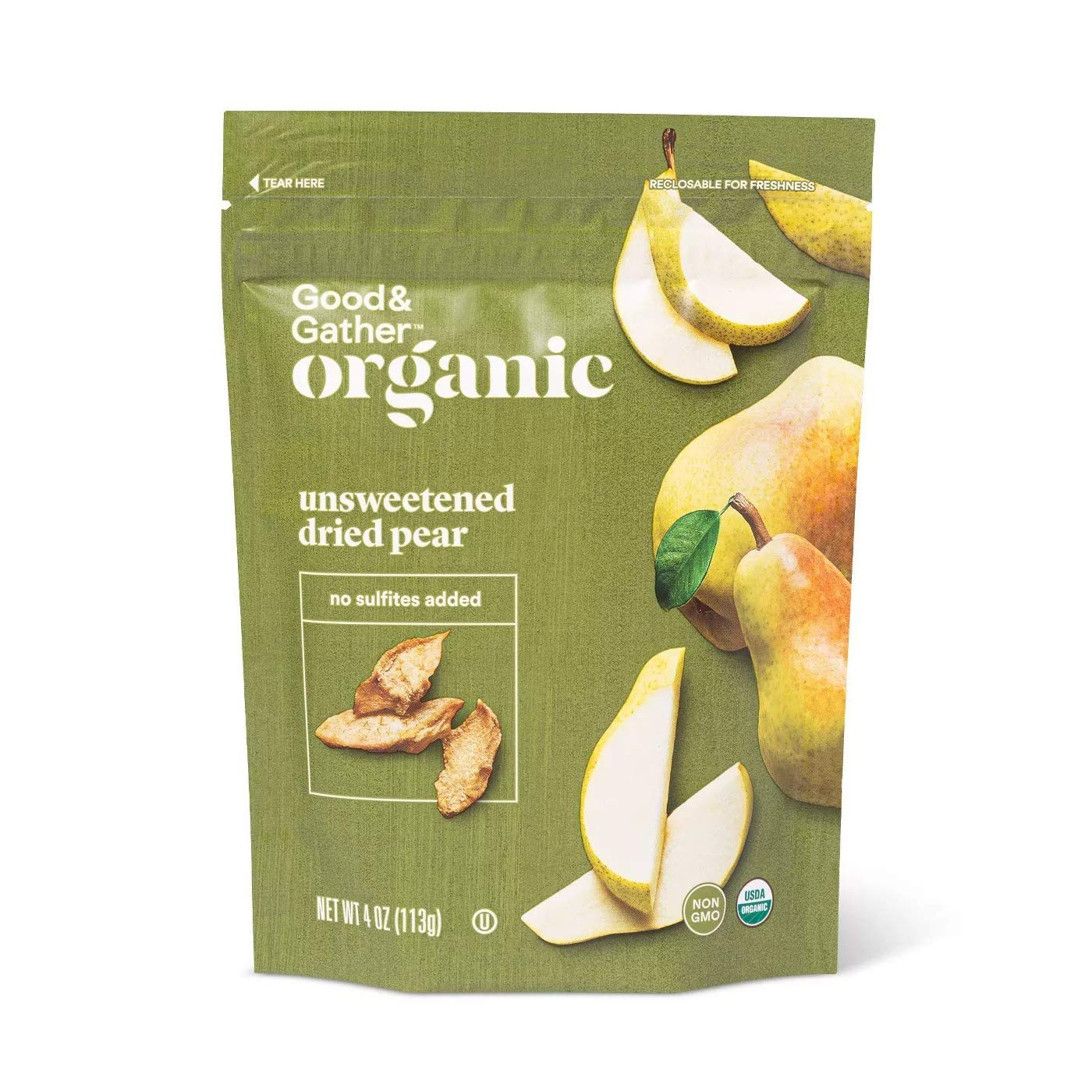 Good & Gather- Organic Dried Unsweetened Pear Snacks - 4oz by Target Stores