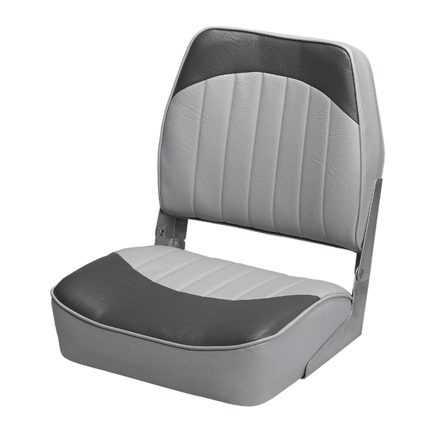Wise 8WD734PLS-664 Low Back Boat Seat, Grey/Charcoal by Wise