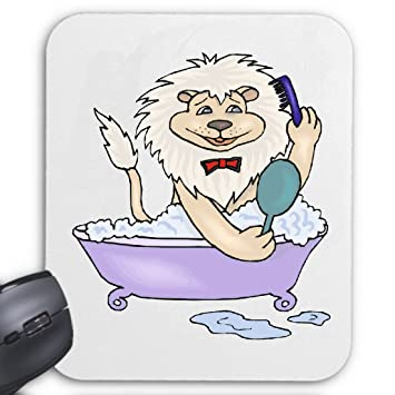 Mousepad Löwe In Der Badewanne Cartoon Amazonde Computer Zubehör