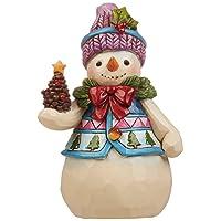 Image of Jim Shore Heartwood Snowman Figurine