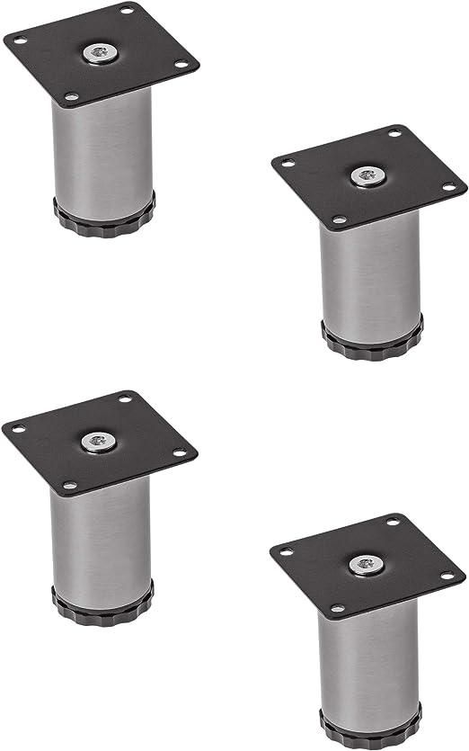 4x GedoTec acero inox. Patas de mueble Pie ajustable Base pie Pata ...