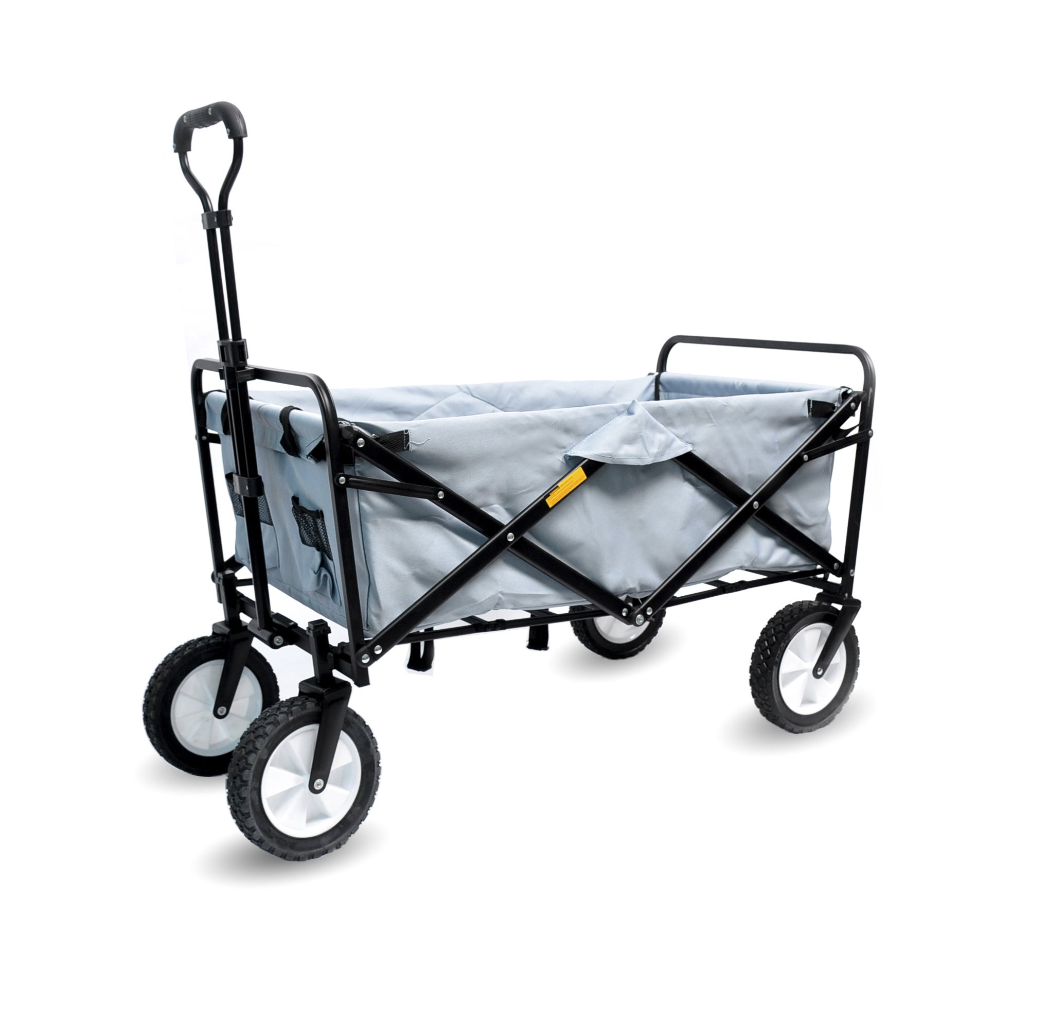 WHITSUNDAY Collapsible Folding Garden Outdoor Park Utility 30'' Picnic Wagon 1 Years Warranty (Silver)
