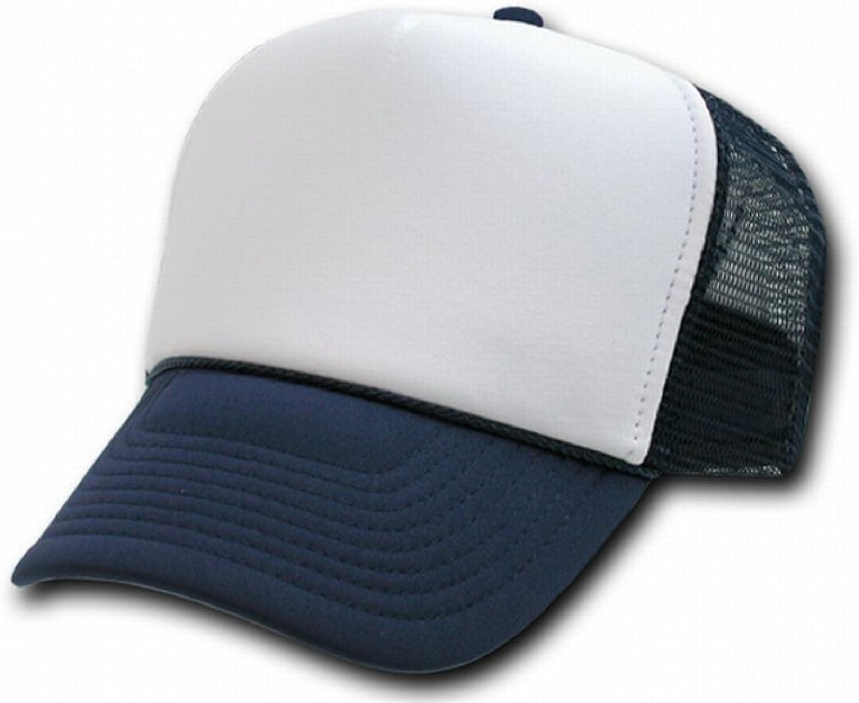 White Red Blue 3 tone Trucker Hat mesh hat snap back hat blank headwear