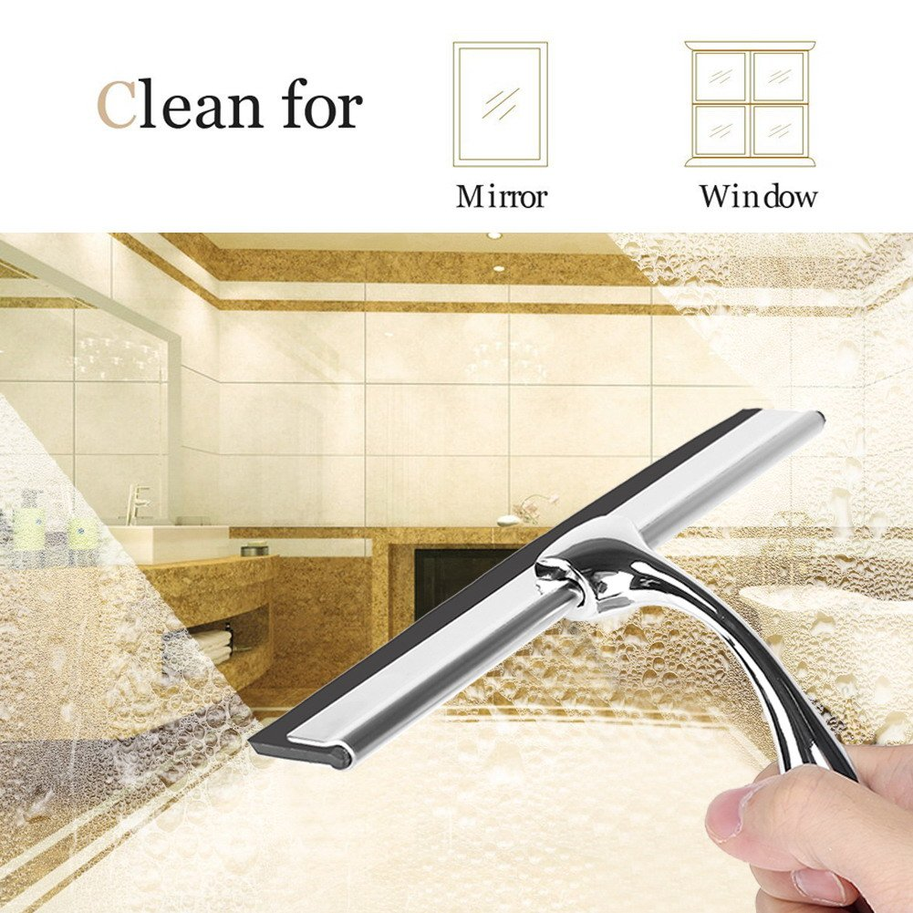 Croydex Clear Bathroom Glass Window Squeegee Transparent