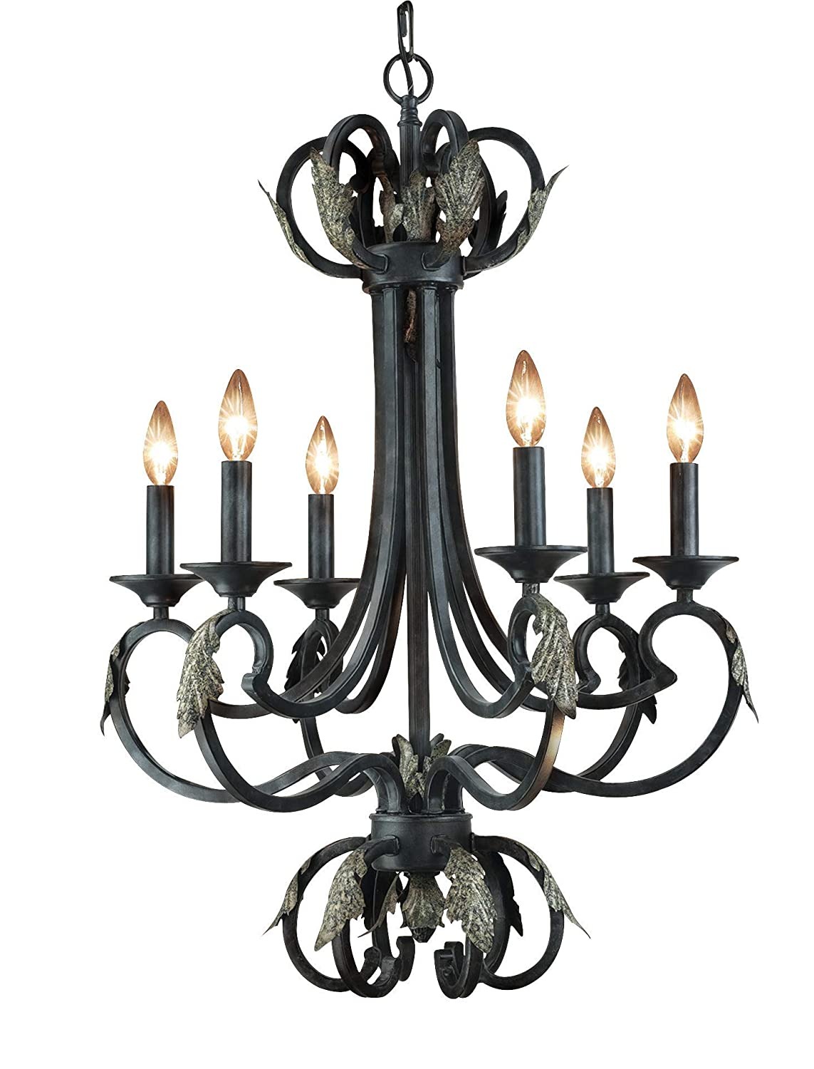 Easton 6 light chandelier amazon com