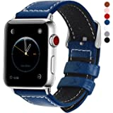 7 colori per Cinturino Apple Watch 42mm,Fullmosa®LC-Jan Pelle Cinturino/Cinturini di Ricambio Apple Watch Band/Strap/Orologio/Bracciale Apple Watch Series 3, iWatch Series 3, Series 2, Series 1, Edizione 2015 2016 2017, Blu Scuro