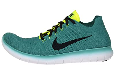 Nike Free RN Flyknit, Zapatillas de Running para Hombre, Verde (Clear Jade/Black-Volt-Rio Teal), 46 EU: Amazon.es: Zapatos y complementos