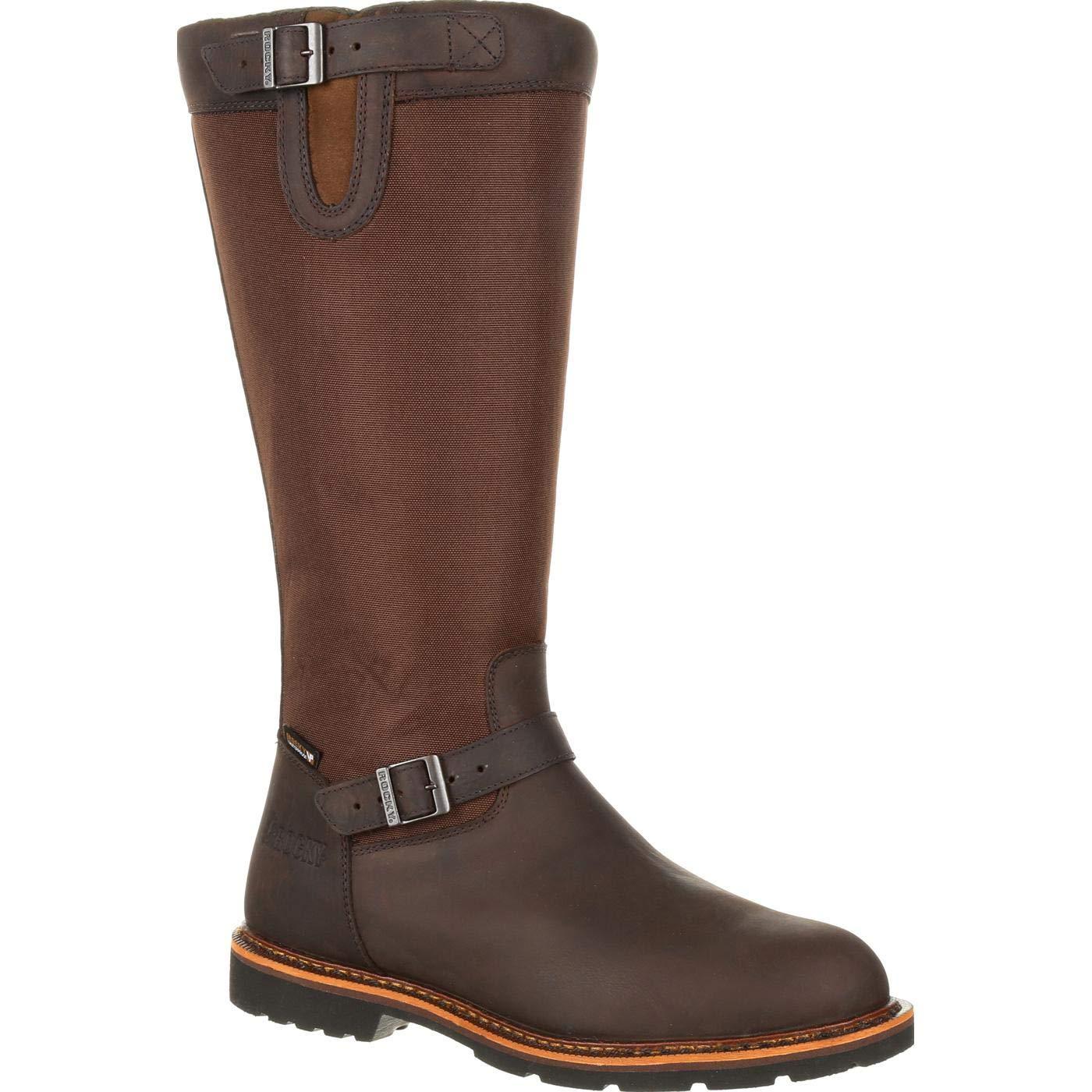 Rocky Men's Falls Waterproof Snake Boot Knee High, Dark Brown, 8 M US
