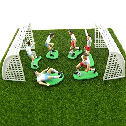 Beautiful 1 Set Football Game Cake Topper Birthday Cake Kids Doll Toy Home Decor Soccer Baking Cupcake Party Supplies For Cake Decoration6 Cake Decorating Supplies