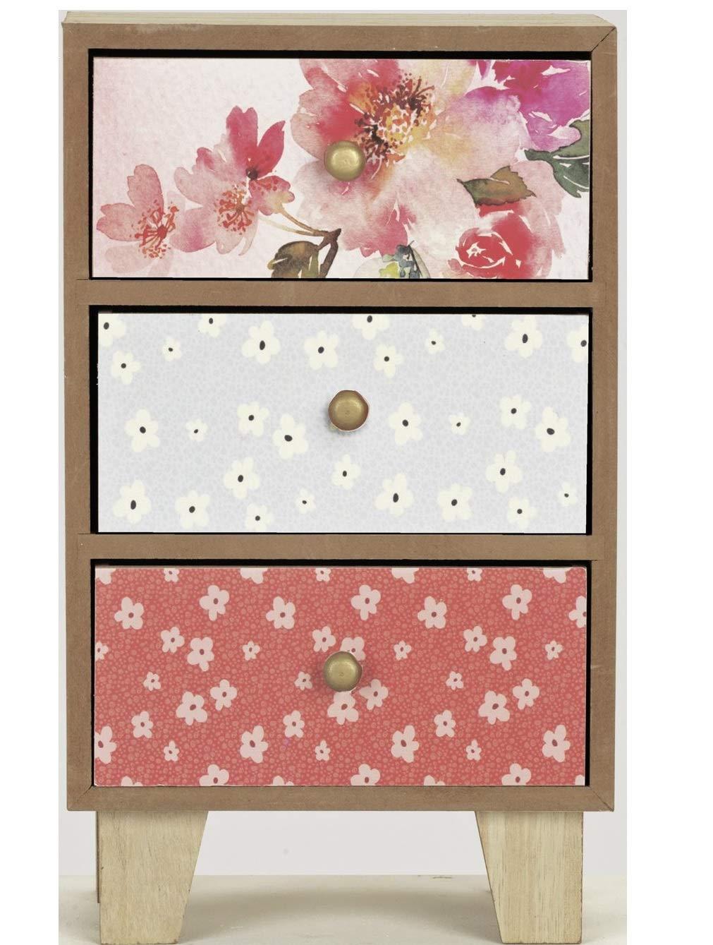 Vintage Boutique - Caja de almacenamiento almacenamiento de con 3 cajones 3914fc