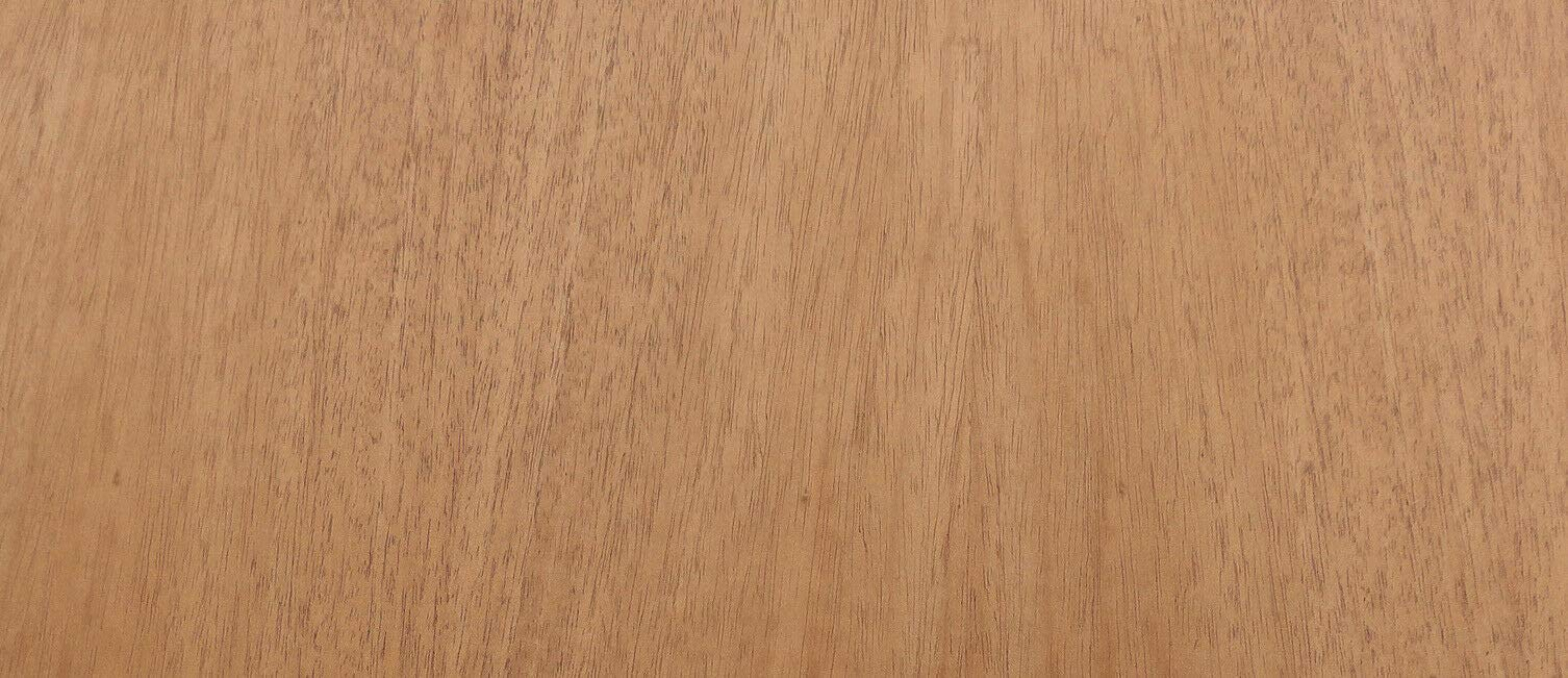 Mahogany wood veneer 24'' x 96'' with peel and stick adhesive PSA 1/40'' thickness by JSO Wood Products