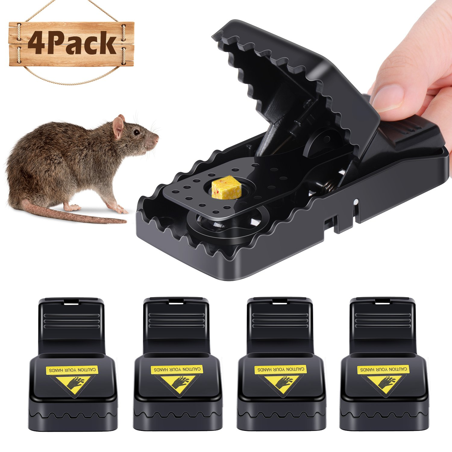 Adoric 4-Pack Mouse/Rats Trap That Work Humane Power Rodent Killer 100% Mouse Catcher Safe for Families and Pet by Adoric (Image #1)