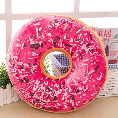 Thinktoo Soft Plush Pillow Stuffed Seat Pad Sweet Donut Foods Cushion Cover Case Toys E: Home & Kitchen