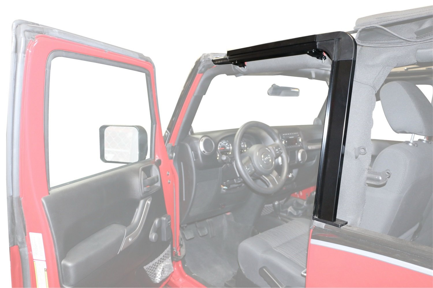 Rampage Products 61099 Door Surround Kit (for 07-16 Jeep Wrangler JK 2-door) by RAMPAGE PRODUCTS