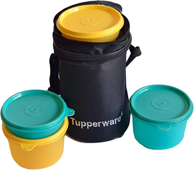 Tupperware Executive Lunch Set with Bag, 4 Pieces Lunch Boxes