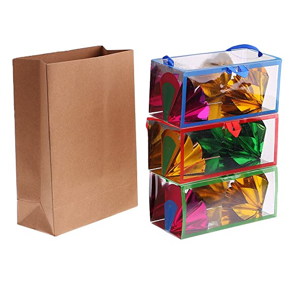 Amazon.com: MonkeyJack Portable Paper Bag Flower Boxes ...
