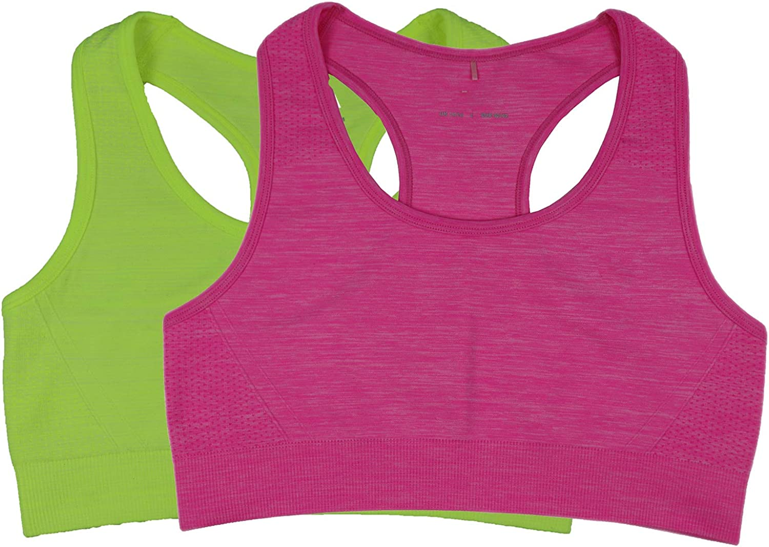 Womens Double-Layer Custom-Control Sport Bra Seamless Plus Size Comfy Running Brassiere