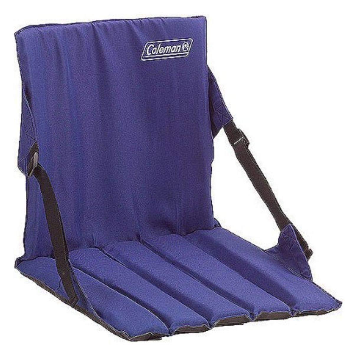 Coleman Portable Stadium Seat Padded Cushion with Backrest (Blue/Set of 2)