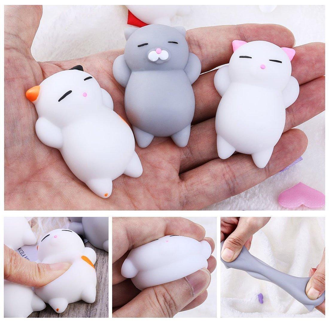 10pcs Mini Kawaii Animal Squishies Lento Aumento 3d Animales Elásticos Suaves Dibujos Animados Squeeze Juguetes Para El Estrés Relif Por Time4deals: ...