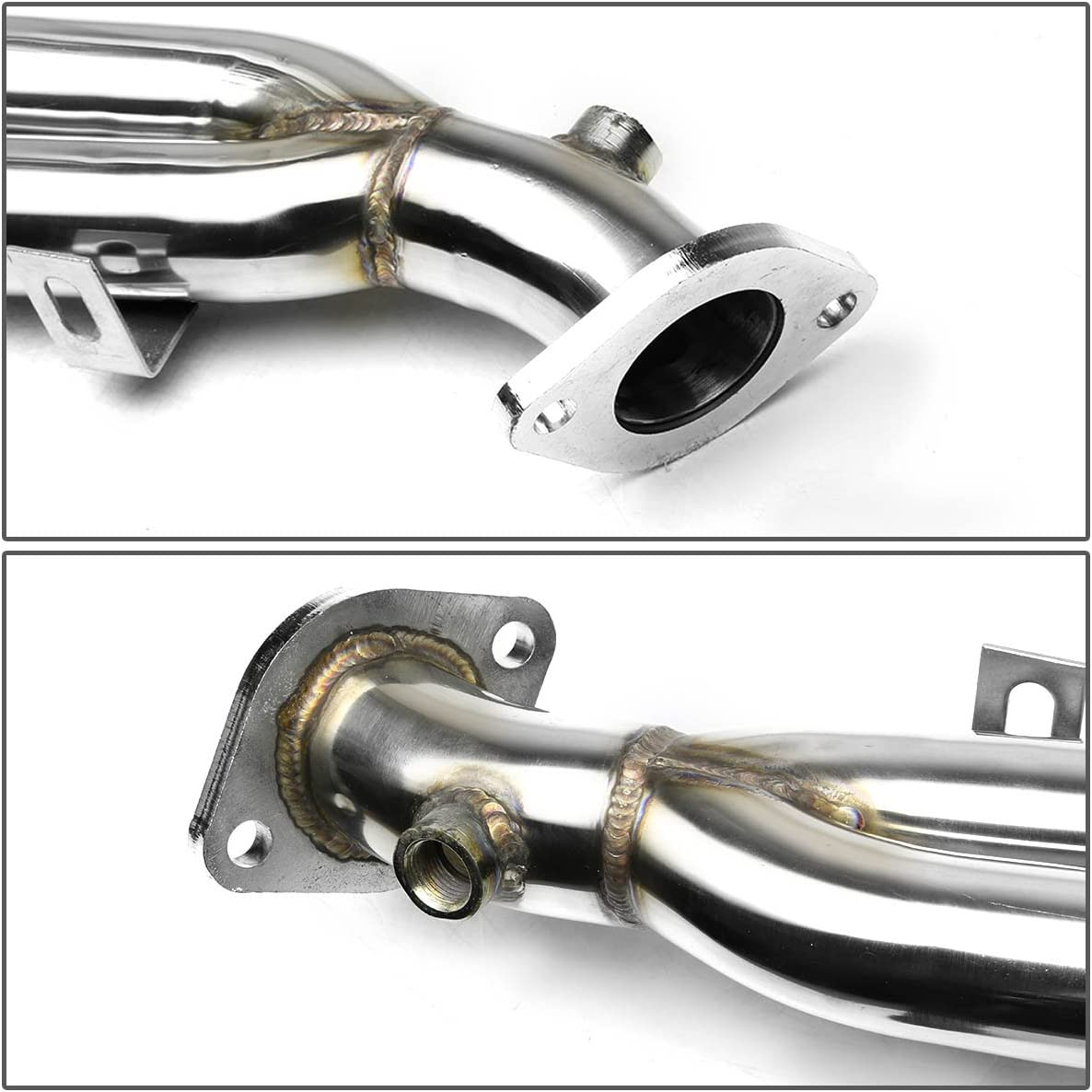 DNA Motoring HDS-FES98 Stainless Steel Exhaust Header Manifold