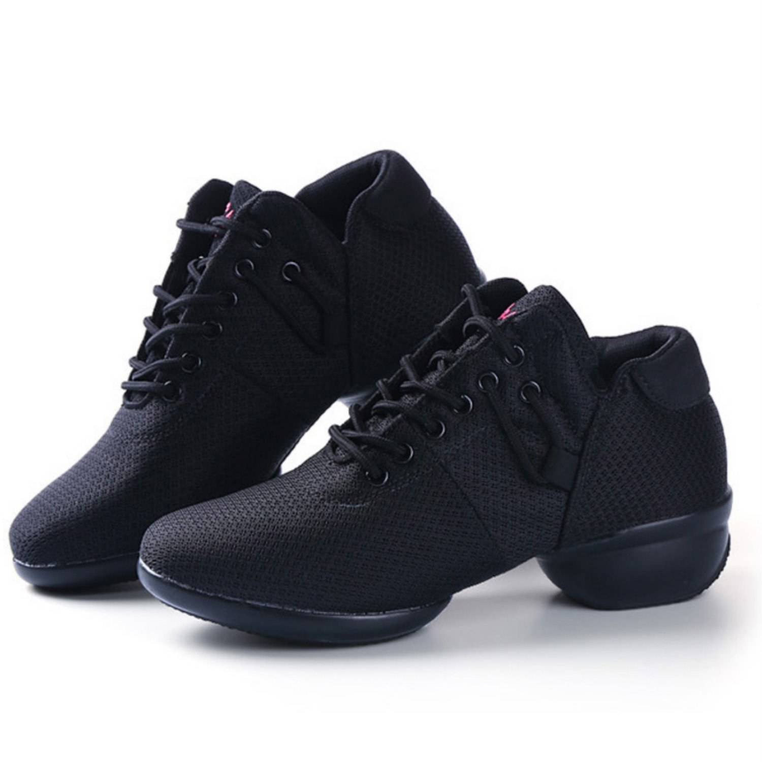 Womens Mesh Jazz Shoes Lady Girls Modern Split-Sole Dance Sneakers for Ballroom Breathable Lightweight