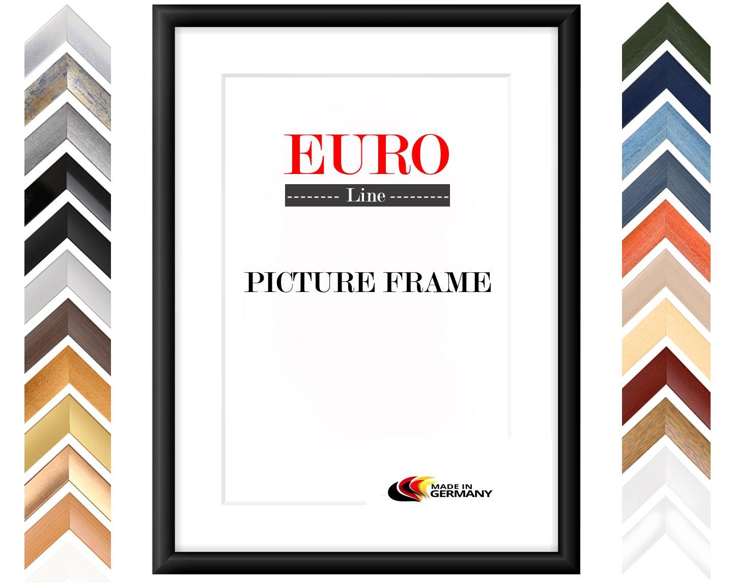 EUROLine35 Bilderrahmen 90 x 120 cm   Farbe  Schwarz Matt   Holzrahmen inkl. entspiegeltem Acryl-Glas und MDF Rückwand   Rahmen Breite  35 mm, Außenmaß  95,8 x 125,8 cm