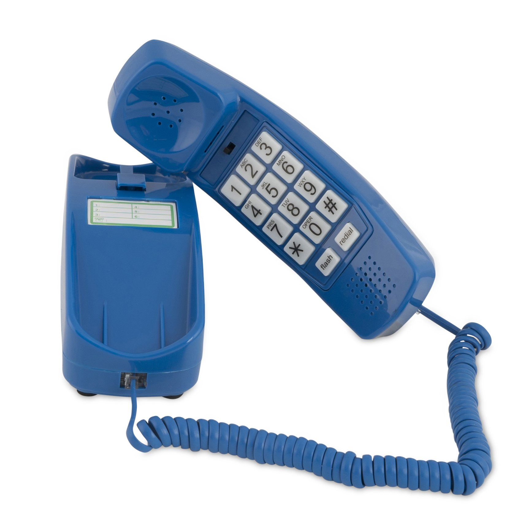 Trimline Corded Phone - Phones For Seniors - Phone for hearing impaired - Classic Blue - Retro Novelty Telephone - An Improved Version of the Princess Phones in 1965 - Style Big Button - iSoHo Phones
