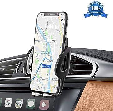 IZUKU Soporte Movil Coche Ventilación Universal 360 Grados Rotación Porta Movil Coche para Rejillas del Aire de Coche para iPhone x/8/7/6 Plus/6s/6/5s/SE, Android Smartphone y GPS Dispositivo: Amazon.es: Electrónica