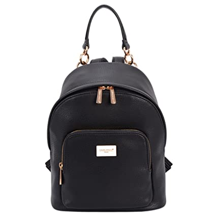 122b178f5ece David Jones - Women s Faux Leather Fashion Shoulder Bag Backpack Back Bag  Rucksack - Small Size