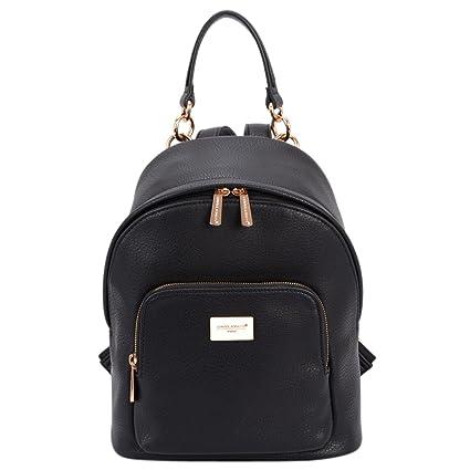 ca3925a3e78 David Jones - Women s Faux Leather Fashion Shoulder Bag Backpack Back Bag  Rucksack - Small Size