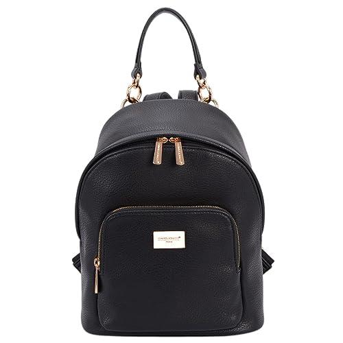 a5b1321867 DAVID JONES Women s Synthetic leather Shoulder Bag Backpack  Amazon ...