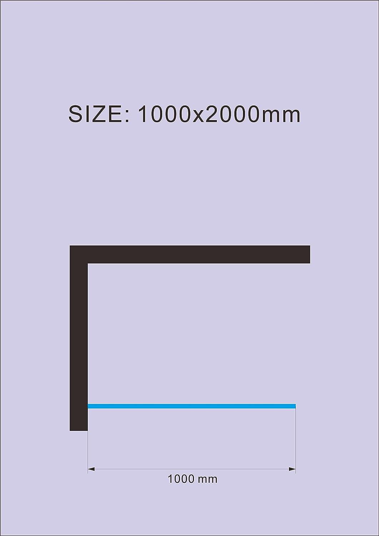 Paroi de douche Walk-In Cloison de douche 10 mm Jade Cabine de douche 100x200cm