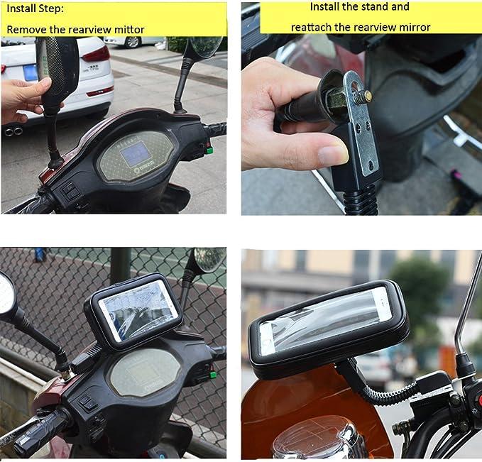 Profesional Impermeable Moto Apoyo Caso XL SUNSEATON Rotaci/ón de 360 Grados Soporte Universal de Motocicleta
