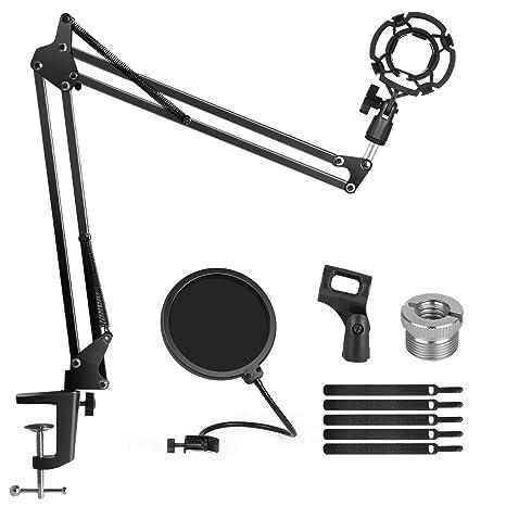 InnoGear - Soporte para micrófono con soporte de impacto, soporte ...