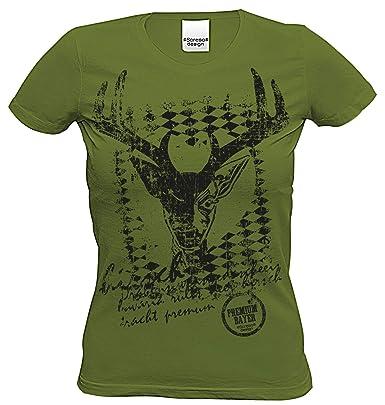 Damen Trachten T Shirt Frauen Bayern Sprüche Volksfest Oktoberfest