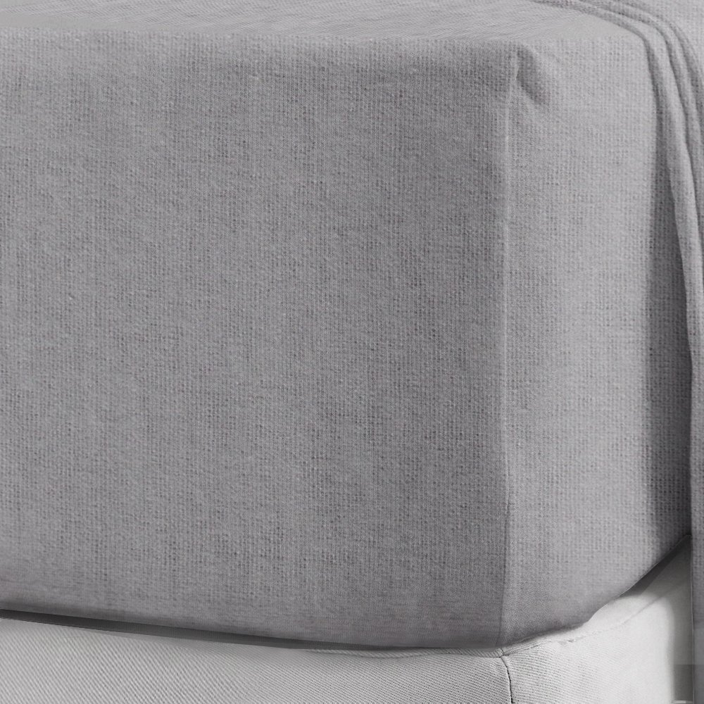 """Soft Thermal 100/%Brushed Cotton Flannelette 40CM//16/"""" Extra-Deep-Fitted-Sheet"""