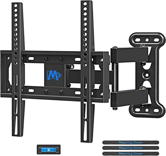 Mounting Dream Full Motion Tv Wall Mount Corner Bracket With Perfect Center Design For Most Of 26 55 Inch Led Lcd Oled Flat Screen Tv Mount With Swivel Articulating Arm Up To Vesa 400x400mm Md2377 Amazon Ca Electronics