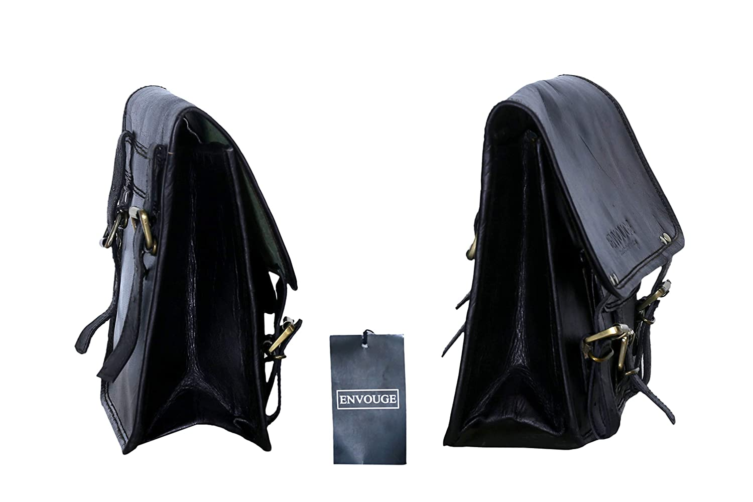 Large Capacity Saddlebags for Bike Scooter Honda Suzuki Yamaha HD Street Sportster Side Pouch panniers 2 Bags ENVOUGE INDIA Saddle Bags for Motorcycles Leather Panniers Black Bag